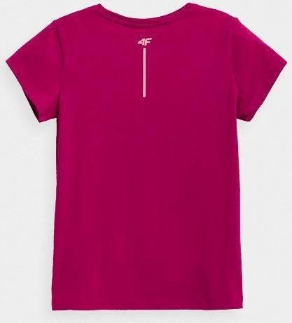 T-shirt dziewczęcy 4F koszulka różowa JTSD007B