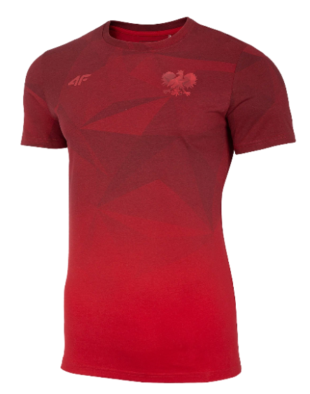 T-shirt koszulka męska 4F kibica TSM502 czerwona