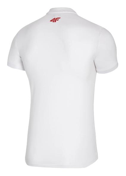 T-shirt koszulka męska 4F polo TSM504 biała