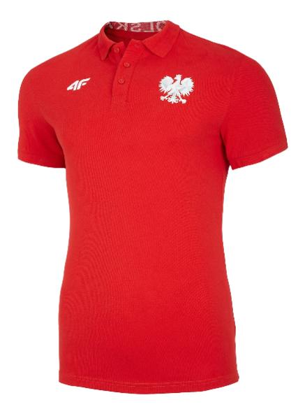 T-shirt koszulka męska 4F polo TSM504 czerwona