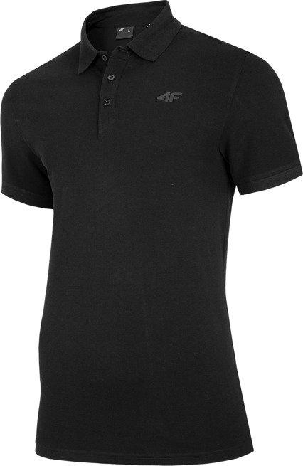 T-shirt koszulka męska polo 4F TSM008 czarna