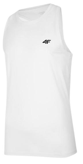 T-shirt męski 4F TSM002 bokserka biała bawełna