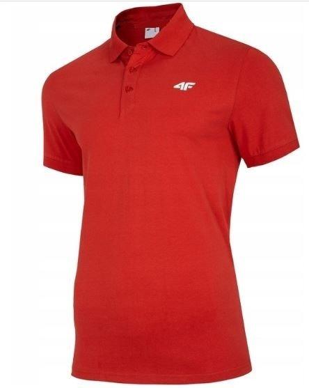 T-shirt męski 4F TSM007 CZERWONY