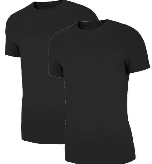 T-shirt męski 4F TSM011 2 PAK koszulki czarne
