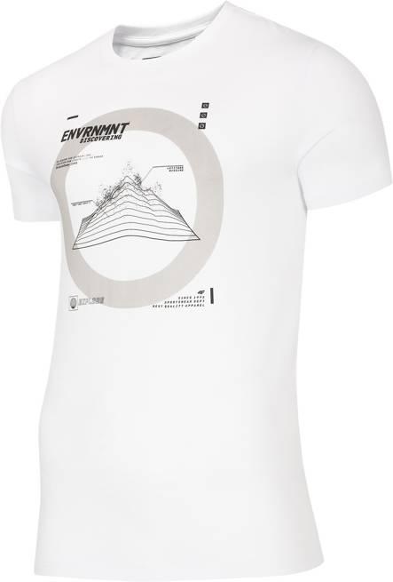 T-shirt męski 4F TSM014 bawełniany biały