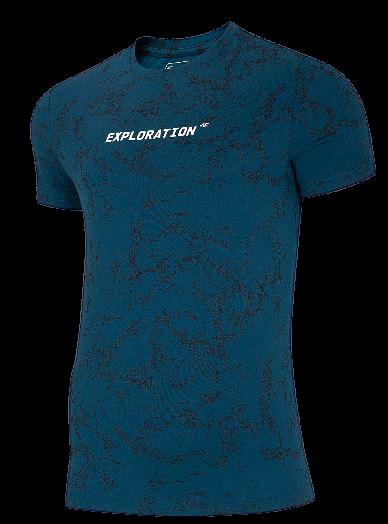 T-shirt męski 4F TSM018 bawełniany granatowy
