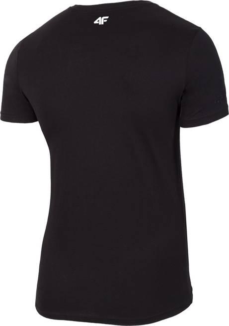 T-shirt męski 4F TSM020 bawełniany czarny