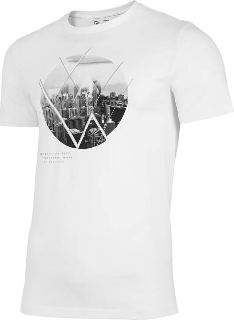 T-shirt męski 4F TSM023 bawełniany biały