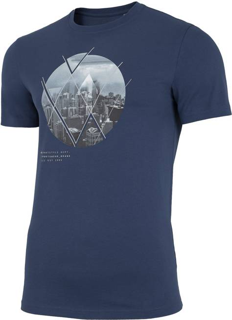 T-shirt męski 4F TSM023 bawełniany niebieski