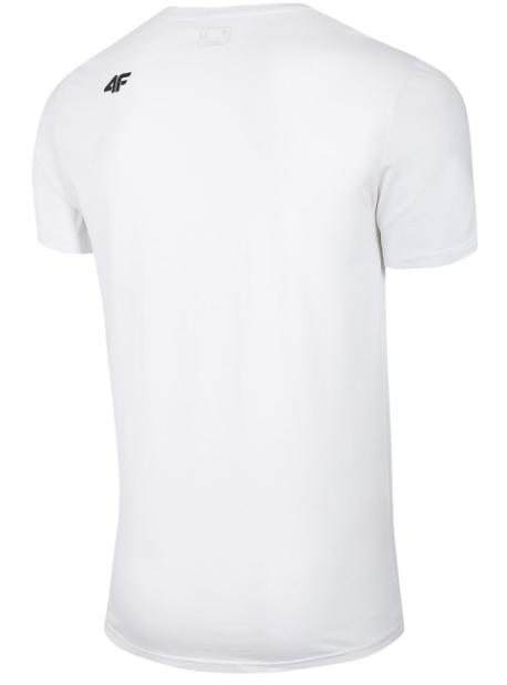 T-shirt męski 4F TSM028 koszulka biała