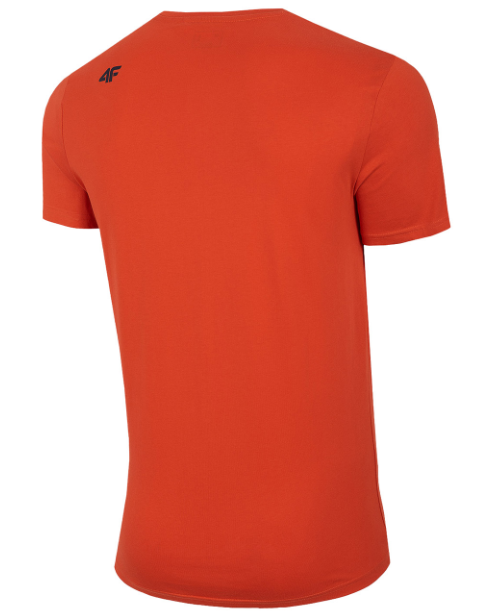 T-shirt męski 4F TSM028 koszulka pomarańczowa