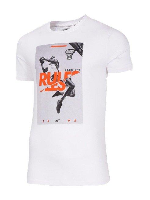 T-shirt męski 4F TSM029 BIAŁY