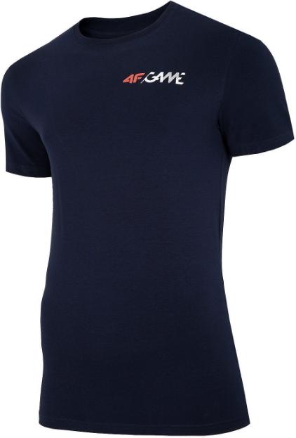 T-shirt męski 4F TSM030 koszulka granatowa