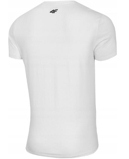 T-shirt męski 4F TSM034 koszulka biała