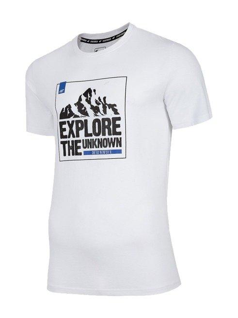T-shirt męski 4F TSM060 BIAŁY