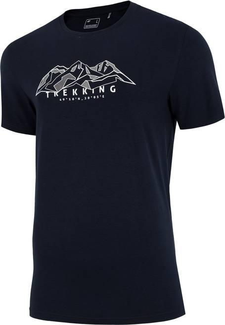 T-shirt męski 4F TSM062 koszulka granatowa