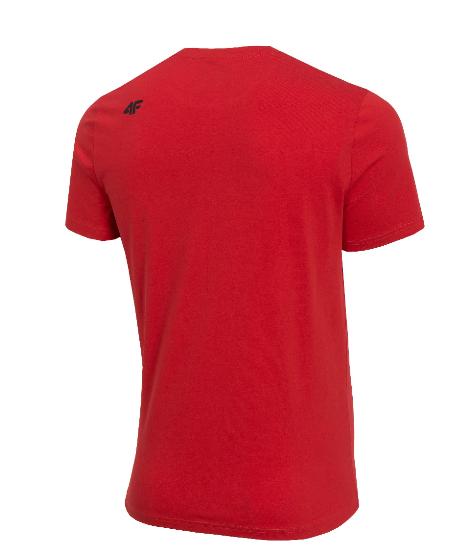 T-shirt męski 4F TSM070 czerwony