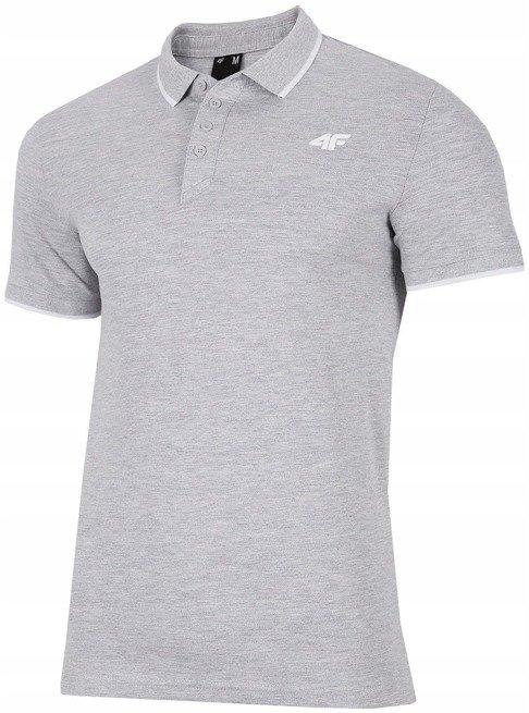T-shirt męski 4F szary TSM024 koszulka polo S