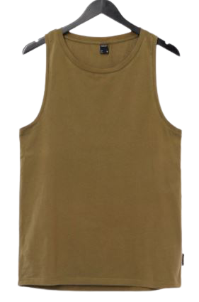 T-shirt męski OUTHORN TSM618 bez rękawów khaki
