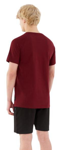 T-shirt męski OUTHORN TSM648 bawełniany burgund