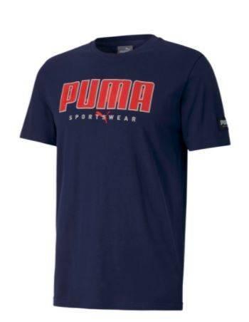 T-shirt męski PUMA 583450 06 koszulka granat