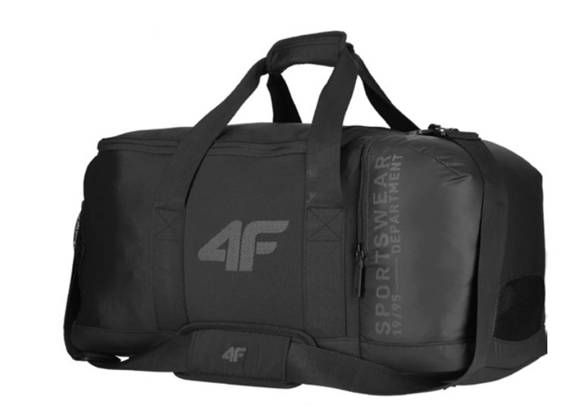 Torba sportowa 4F TPU010 podróżna czarna  37L